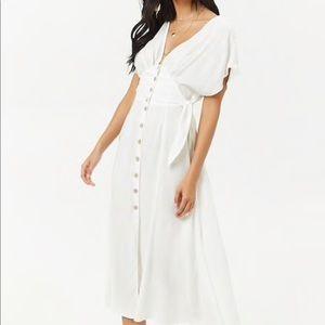 Forever 21 white midi dress